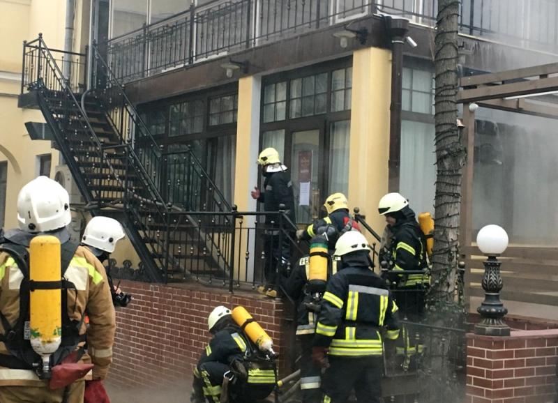 В центре Одессы сгорел паб