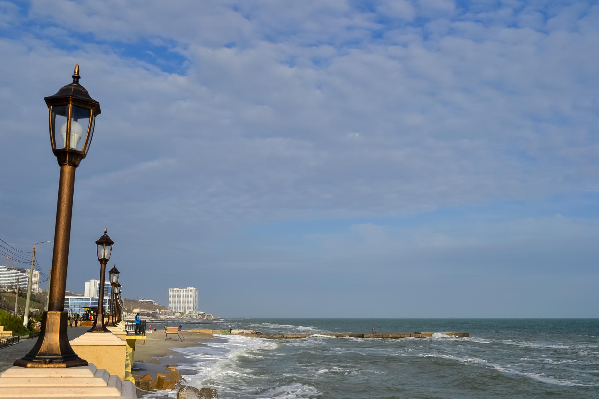 Начало зимы на одесском побережье
