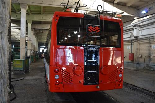 В Одессе презентовали первый белорусский троллейбус