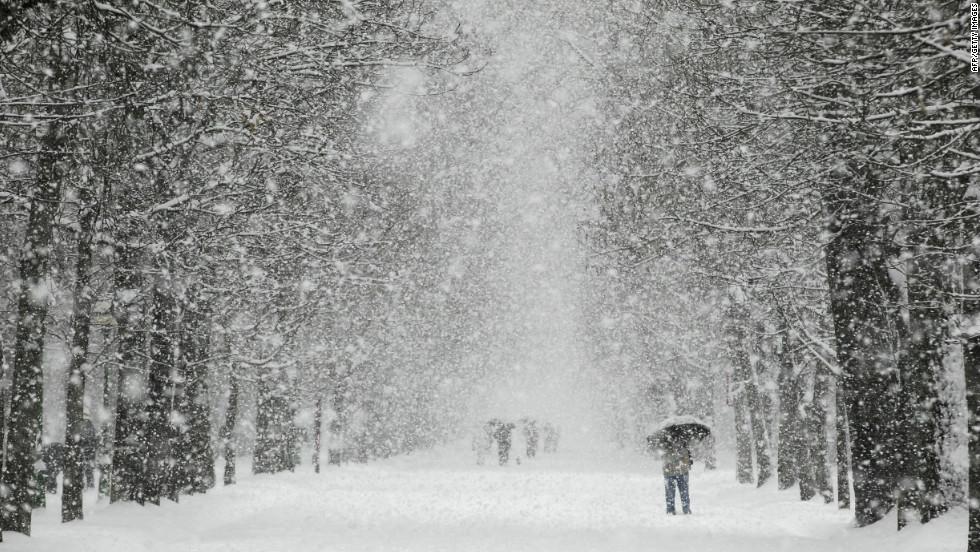 По Одессе и области усиливается снегопад