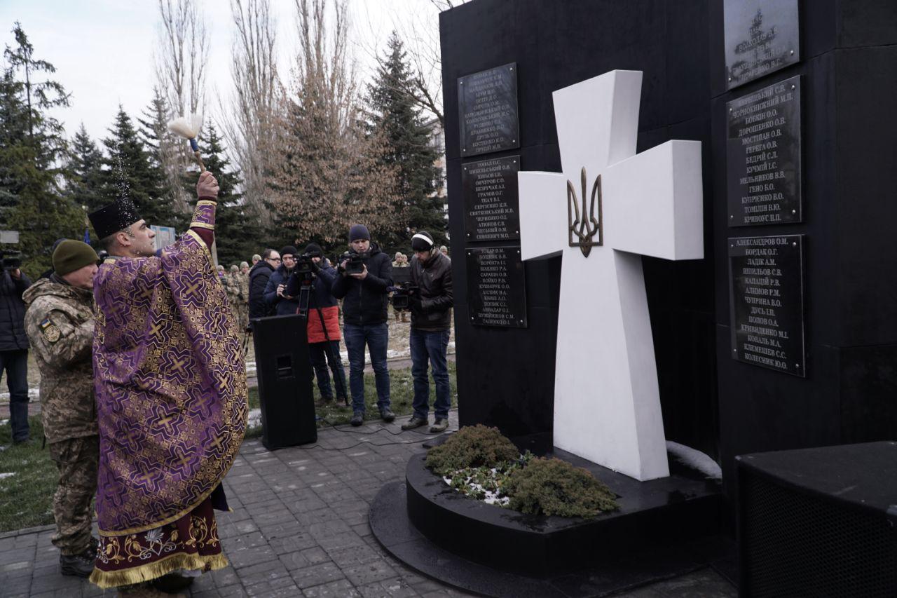 В Одесской области открыли памятник погибшим бойцам АТО