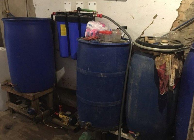 В Одесской области обнаружили подпольный цех по производству алкоголя