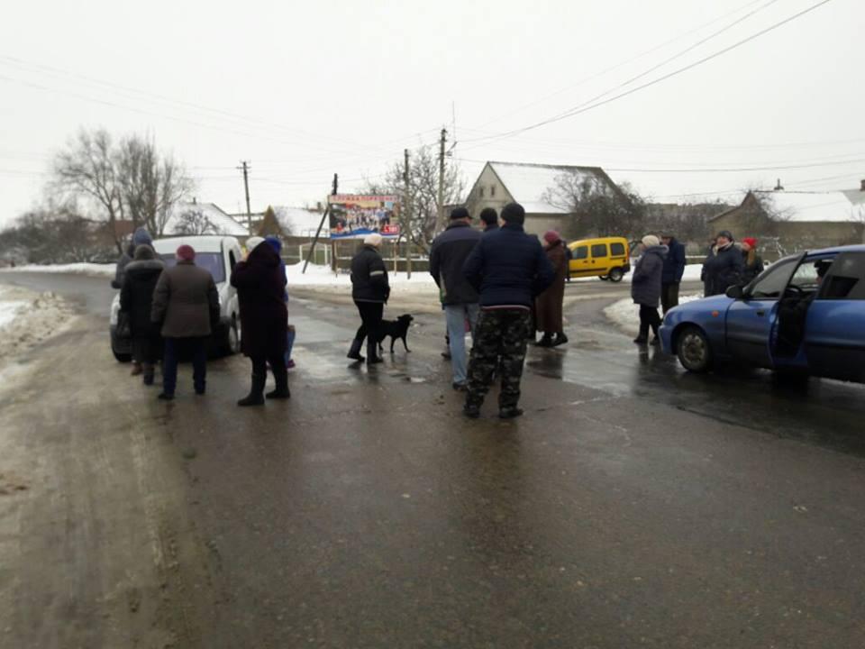 В Белгород-Днестровском районе перекрыли дорогу