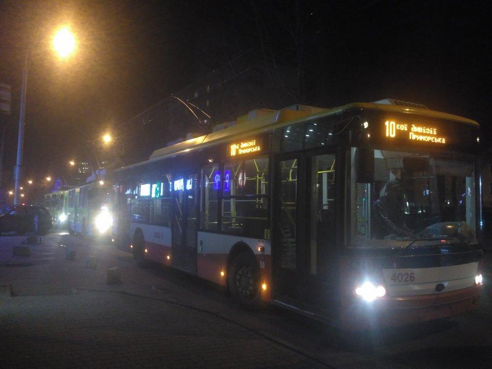 На 5-й станции Фонтана остановились троллейбусы