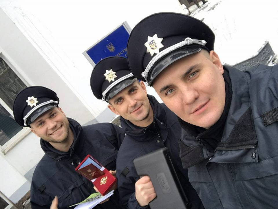 Одесским патрульным Аваков вручил награды