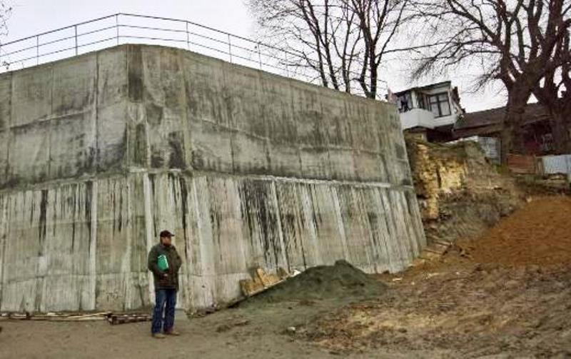 Закончился ремонт подпорной стены на Скидановском спуске