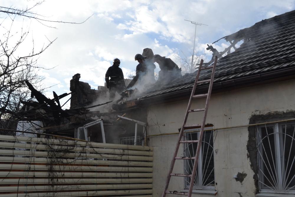 В Одессе горел жилой частный дом