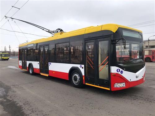 В Одессу прибыл второй белорусский троллейбус