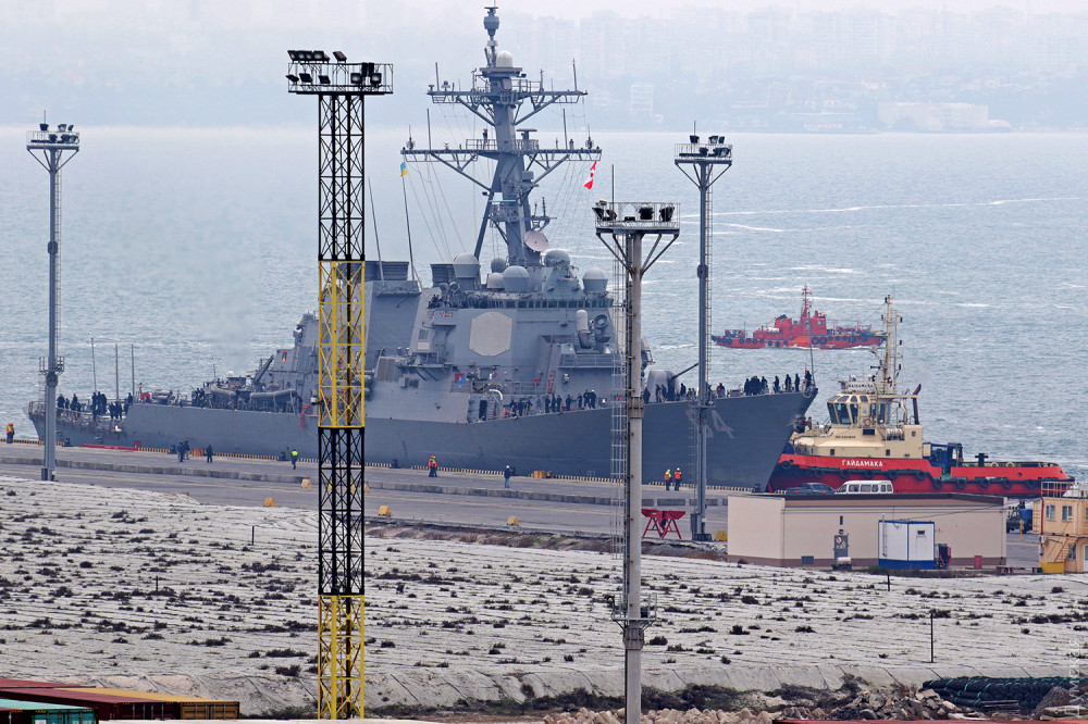 Американский эсминец зашел в Одесский порт