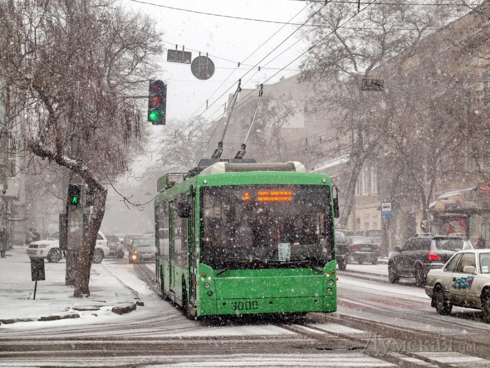 В Одессе возобновлена работа всех троллейбусных маршрутов