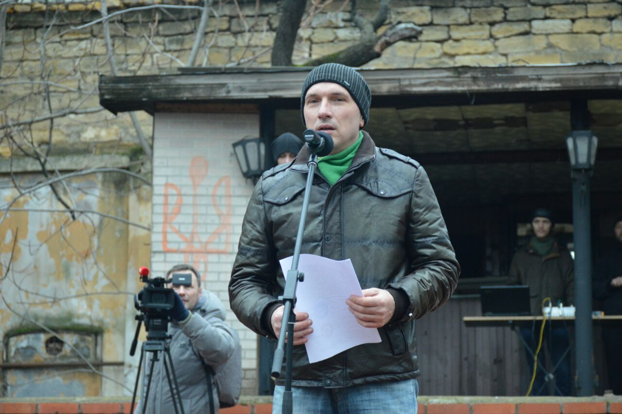 Одесские активисты митинговали против повышения платы за проезд в маршрутках