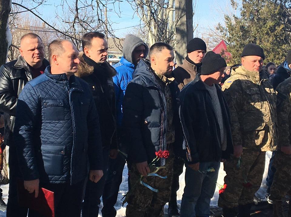 На юге Одесской области установили мемориальную доску погибшему в зоне АТО бойцу