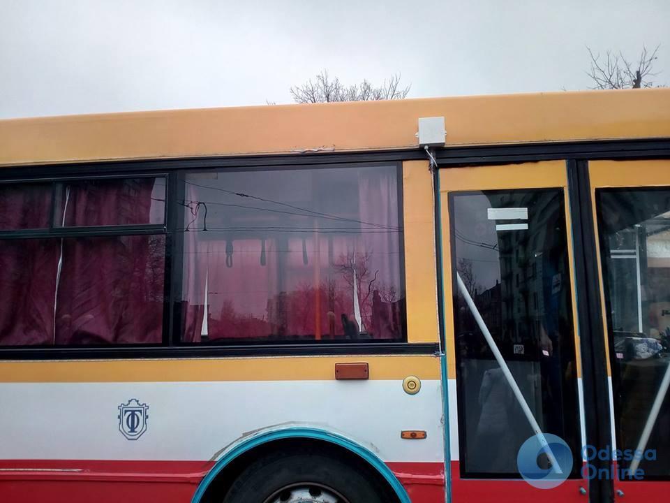 Троллейбус с современной системой оповещения вышел на маршрут в Одессе