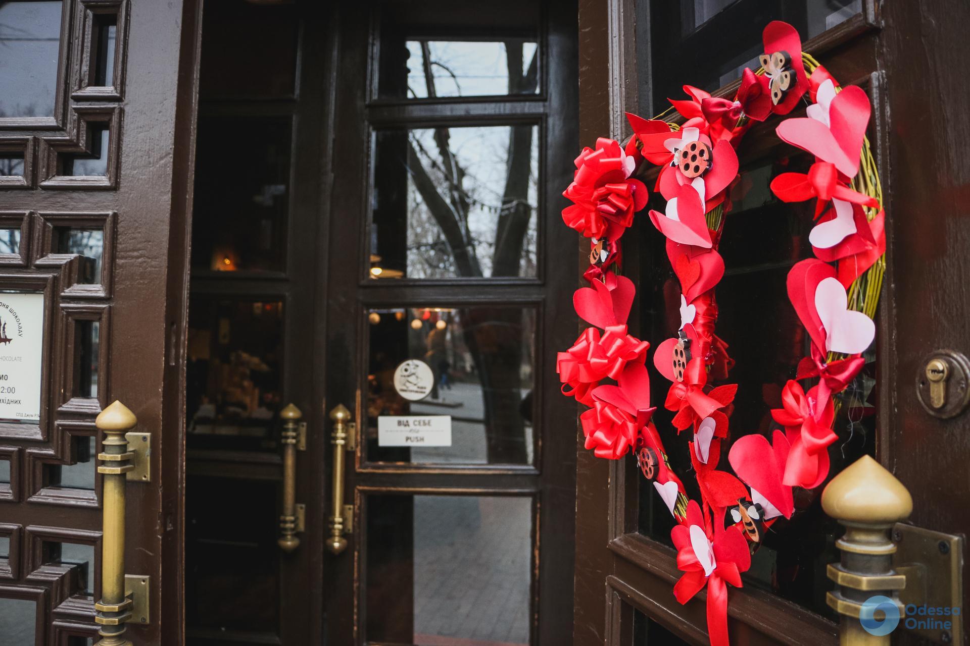 Одесса преобразилась ко Дню Святого Валентина