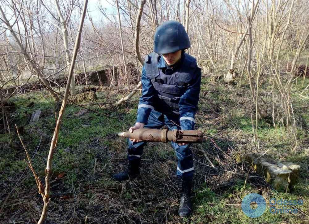 В поле на юге Одесской области нашли артиллерийский снаряд