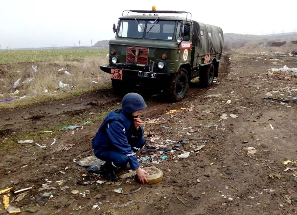 На одесской городской свалке нашли противотанковую мину