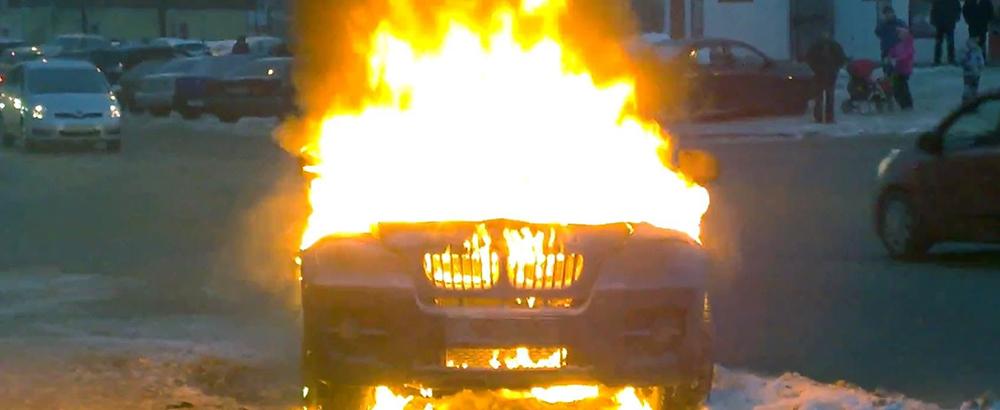 В Одессе сгорел BMW