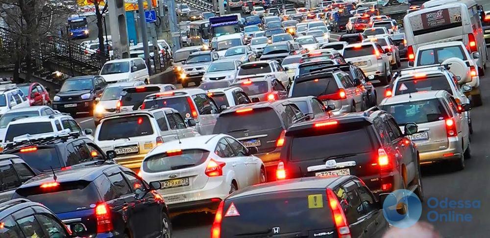 Одесские пробки: путь в центр относительно свободен