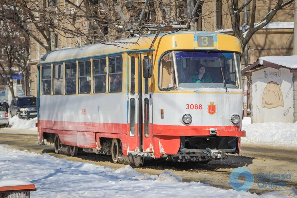 Восстановлена работа двух одесских трамвайных маршрутов