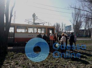 В Одессе загорелся трамвай (ФОТО)
