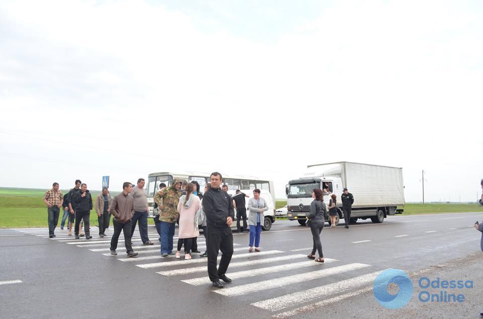 Недовольные состоянием дорог татарбунарцы перекрывали трассу Одесса-Рени