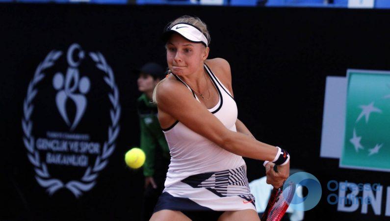 Одесская теннисистка не сумела выйти во второй раунд турнира в Манчестере