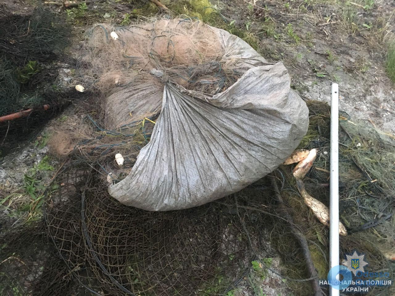 Под Одессой браконьеры бросили свой улов и сбежали