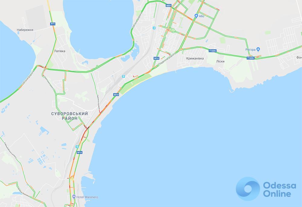 Одесские пробки: трудности на пути к центру города