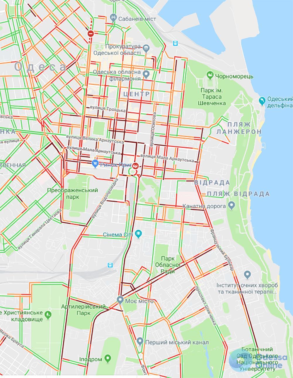 Автоапокалипсис в Одессе: в центр лучше не въезжать