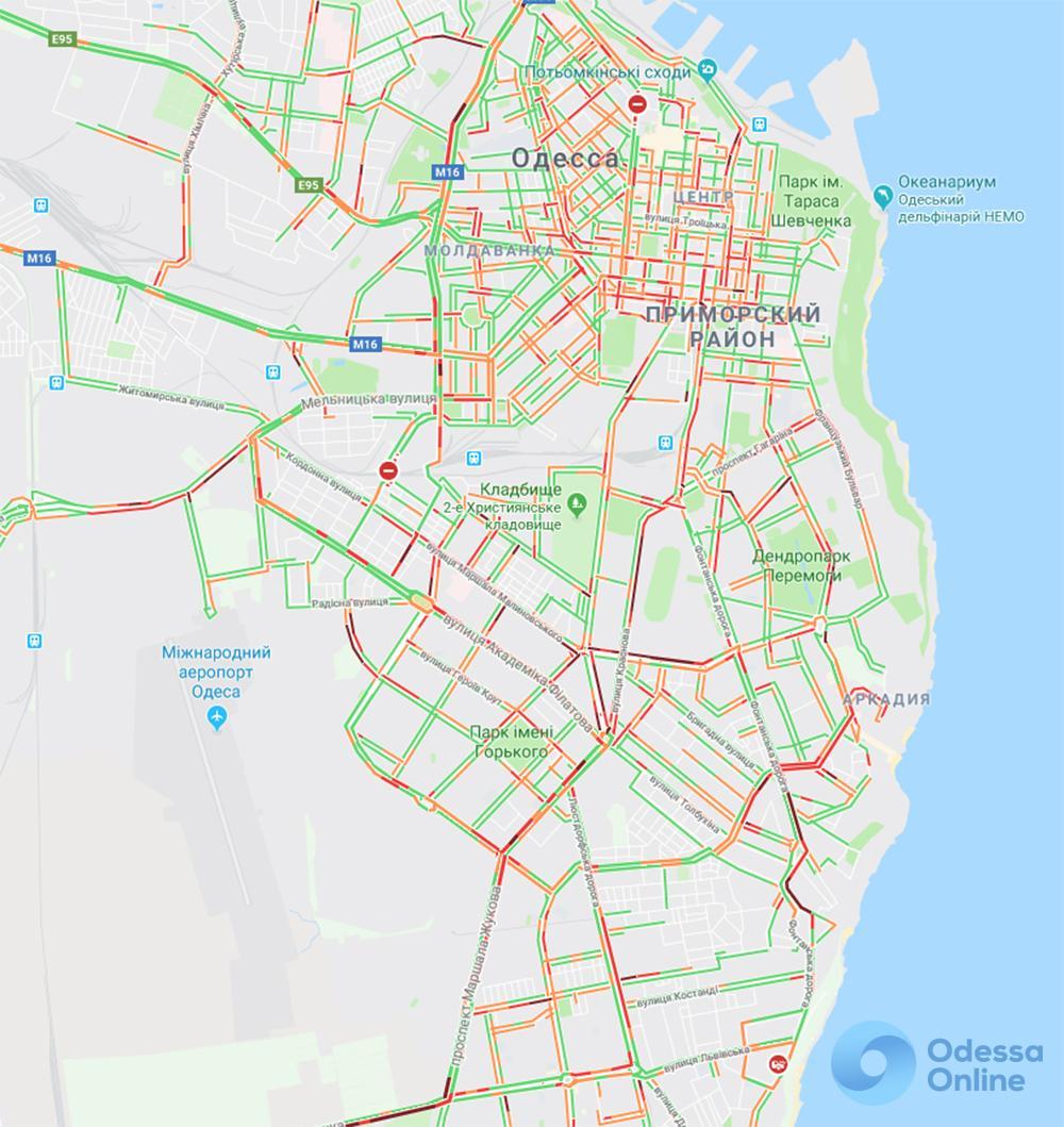 Одесские пробки: проблемная дорога в центр с поселка Котовского и Таирова