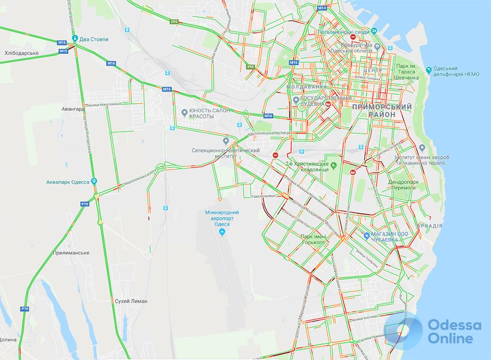 Дорожная обстановка в Одессе: ДТП и пробки по дороге в центр