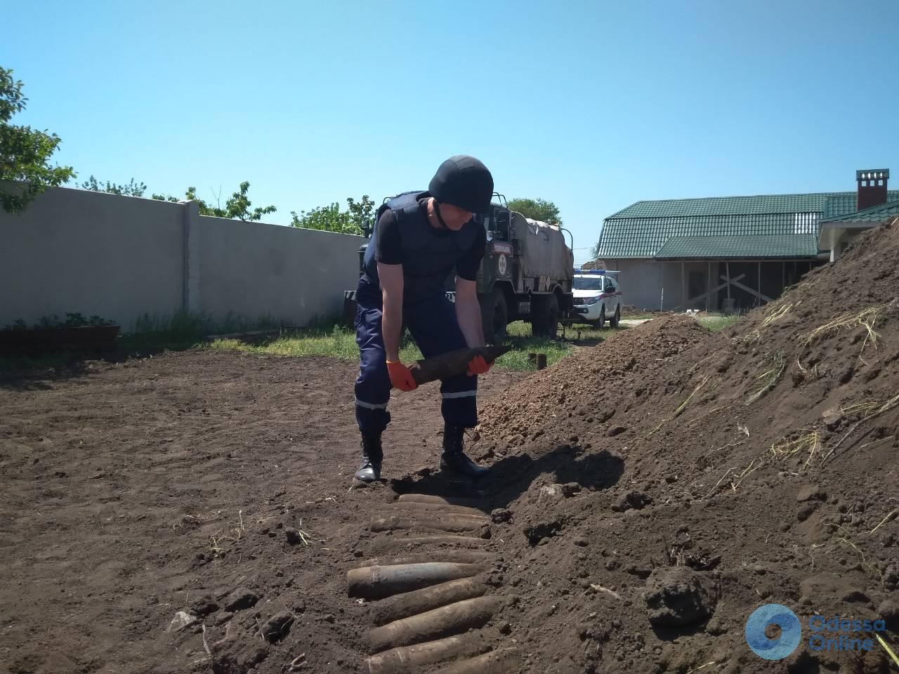 В Одесской области уничтожили артснаряды времен Второй мировой