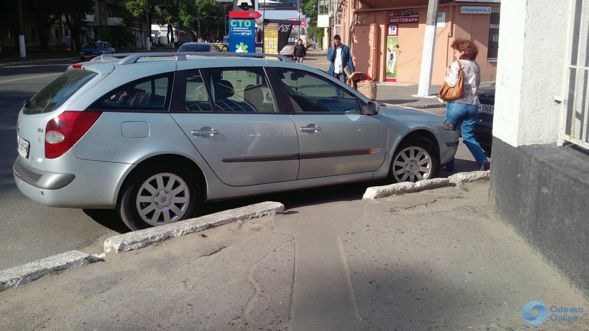 В Одессе наказали автохама на еврономерах