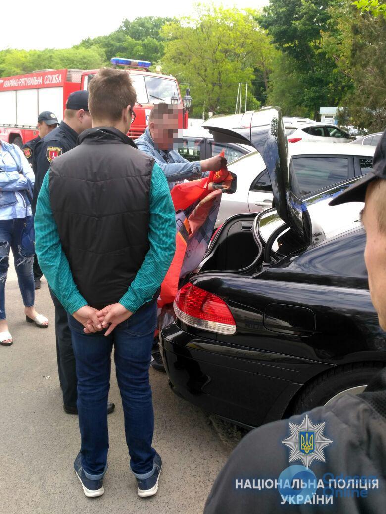 Одесса: полиция гонялась за BMW с красным флагом