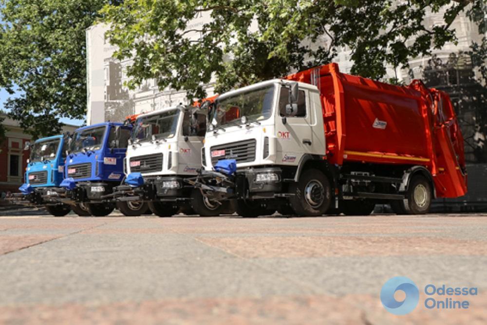 Одесса обзавелась новыми современными мусоровозами