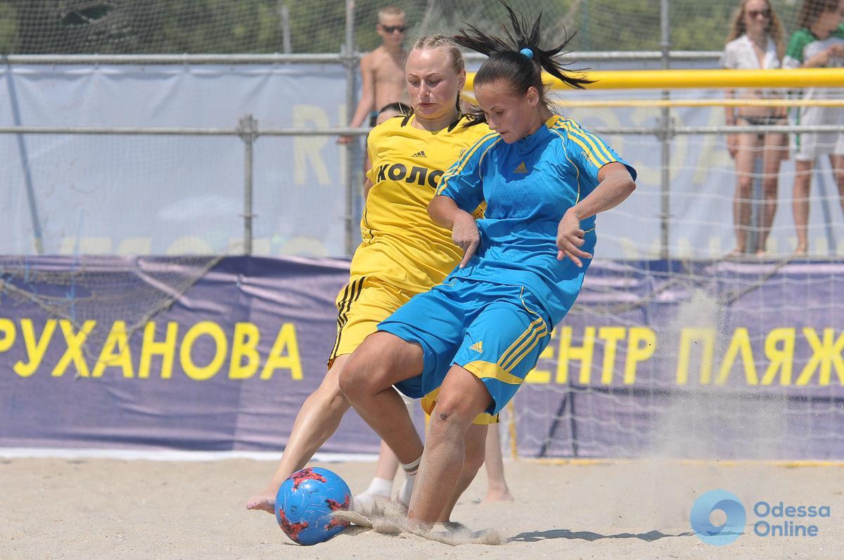В Одессе пройдет второй чемпионат Украины по пляжному футболу среди женских команд