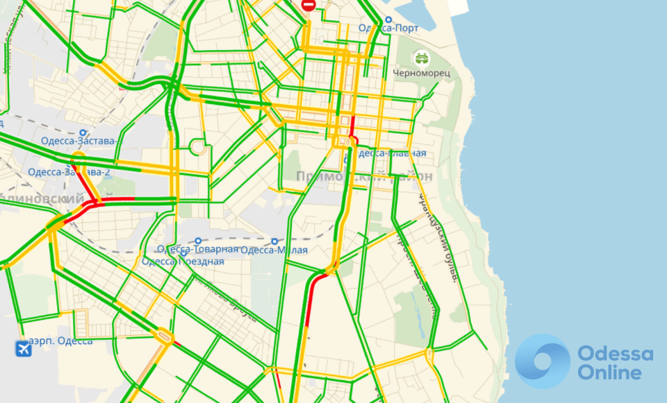 Дорожная обстановка в Одессе: «тянучки» и пробки