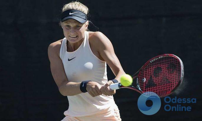 Юная одесситка выходит в полуфинал теннисного турнира во Франции