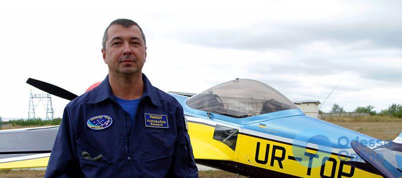 Одесский чемпион по аэробатике снял на видео свой полет