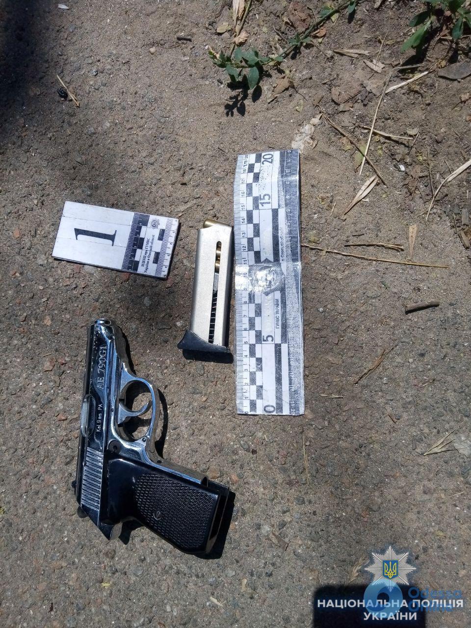 В Одессе на Трассе здоровья задержали вооруженного мопедиста