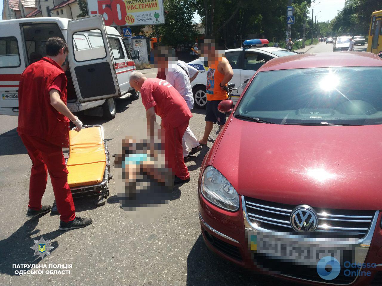 В Одессе пострадала велосипедистка