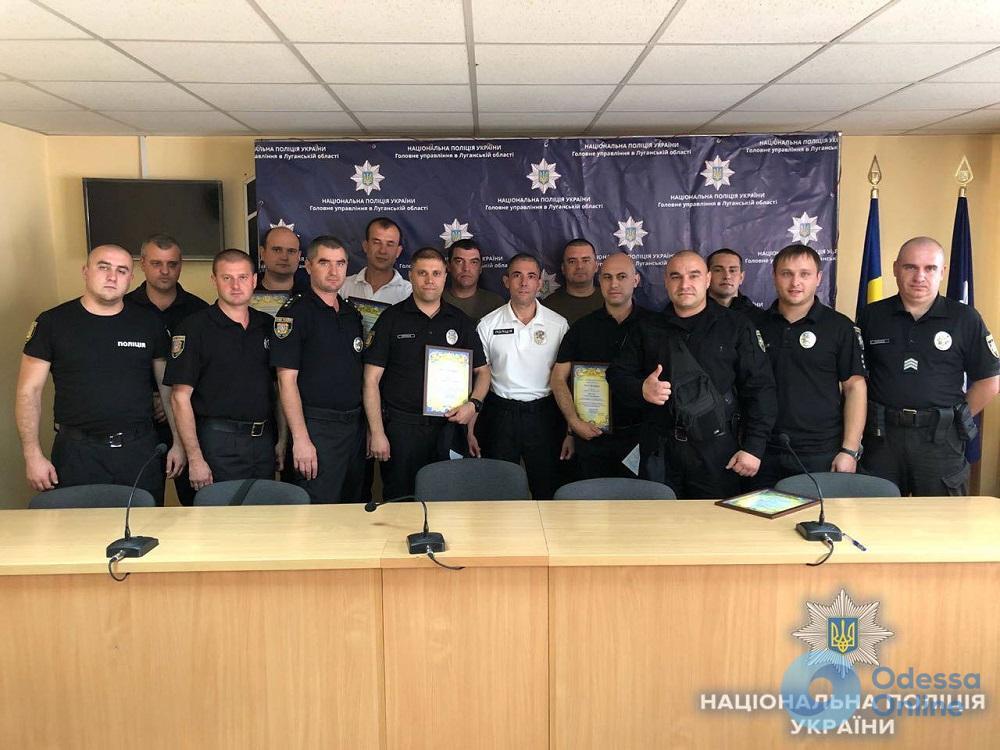 Одесских полицейских наградили за образцовую службу в зоне боевых действий