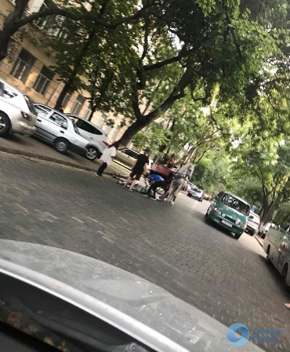 Аномальная жара: в Одессе лошадь потеряла сознание