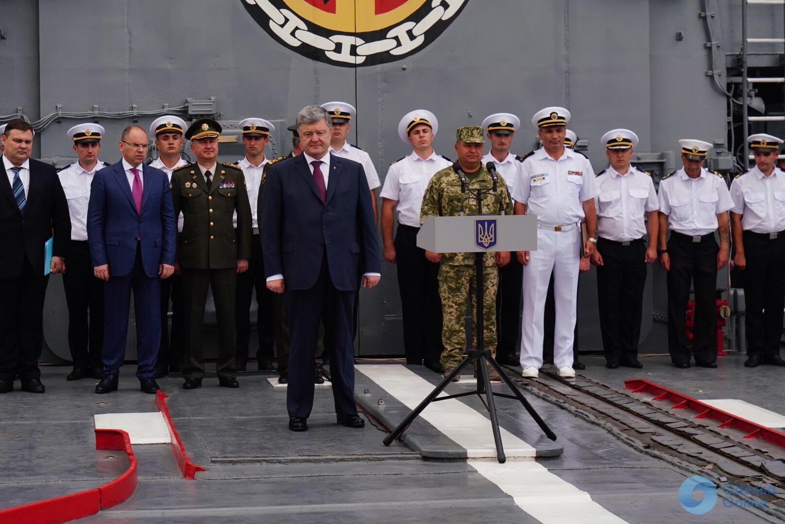 Петр Порошенко в Одессе: «Двері НАТО для України відкриті»