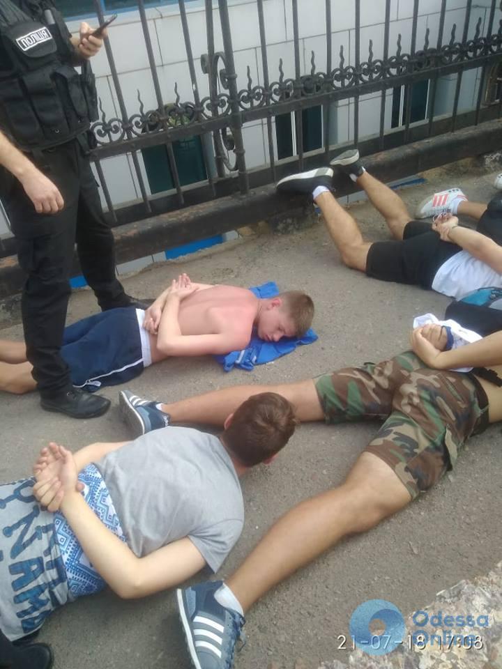 В Одессе полиция задержала фанатов киевского «Динамо»