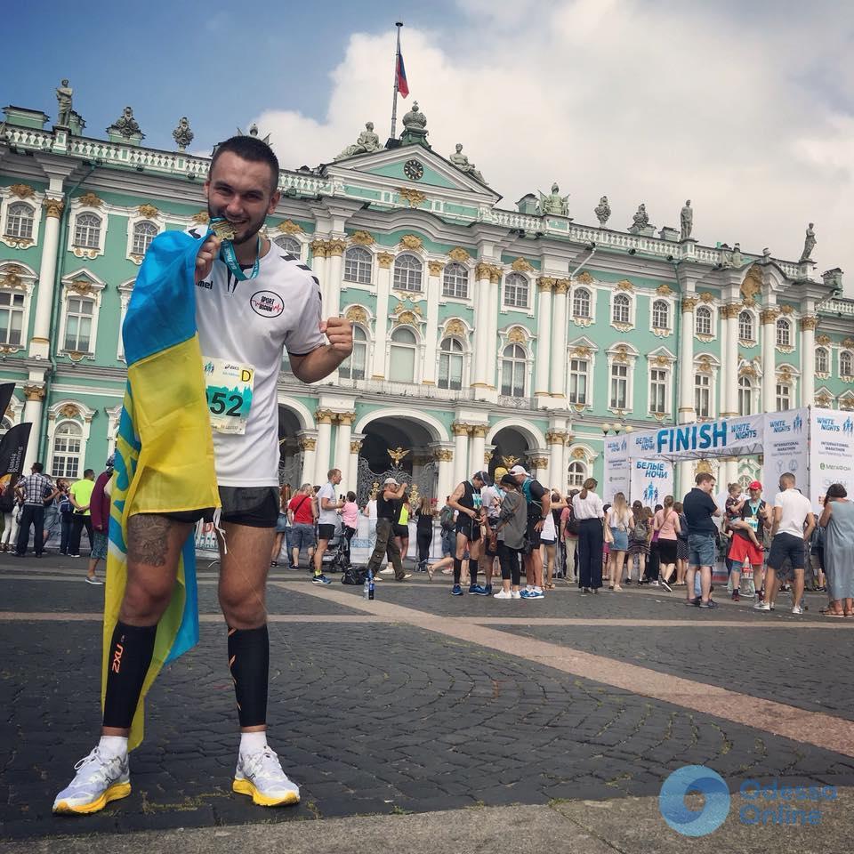Одесский марафонец Виталий Гилевич установил личный рекорд в Санкт-Петербурге