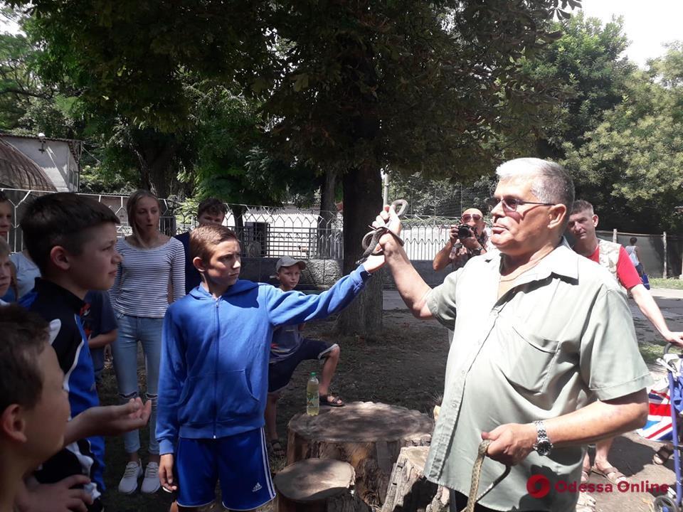 В Одесском зоопарке пели караоке и учились отличать гадюку от ужа