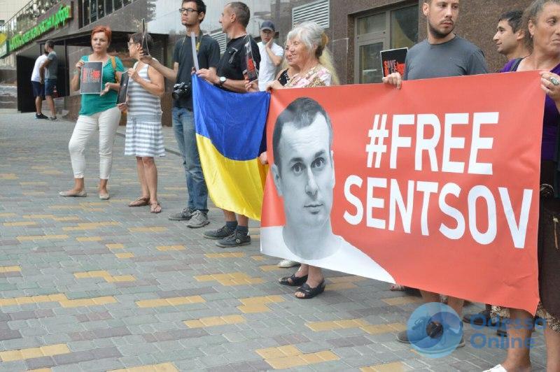 Одесситы провели акцию в день рождения Олега Сенцова