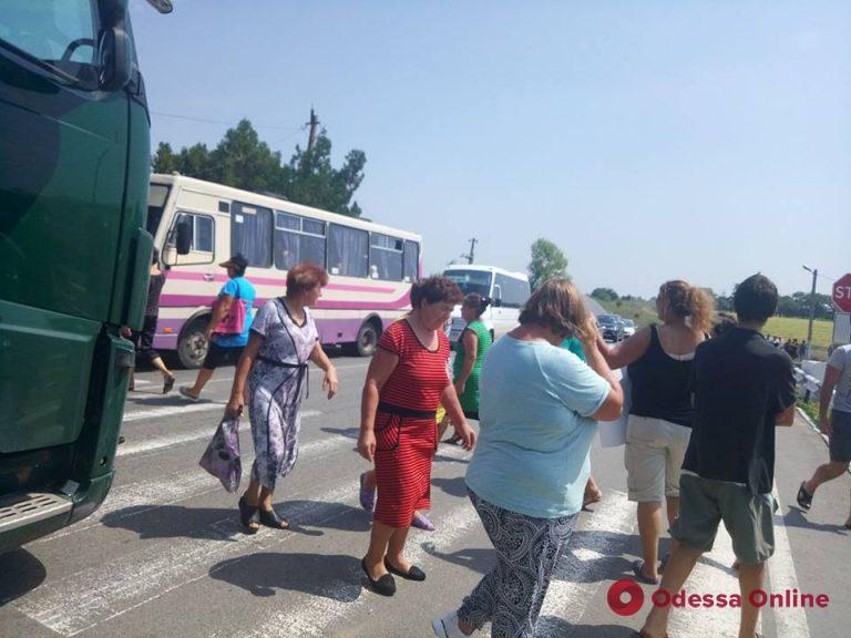 Одесская область: жители Болградского района перекрыли трассу Одесса – Рени