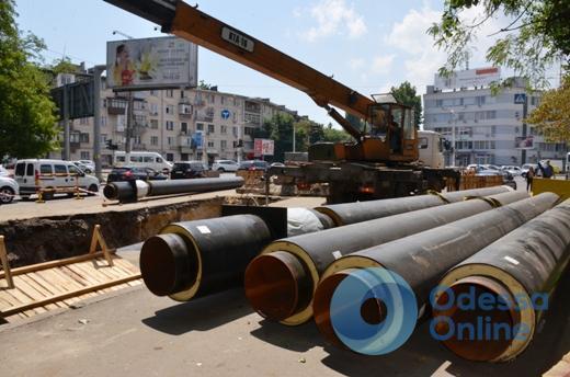 В Одессе началась реконструкция участка теплотрассы на улице Сегедской (фото)